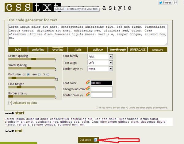 générateurs de CSS