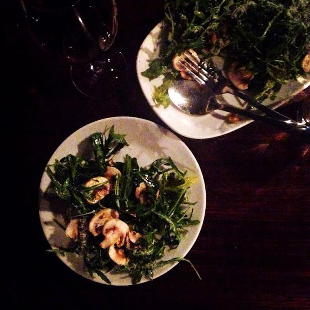 Adelaide, Melt CBD, Rocket & Mushroom Salad