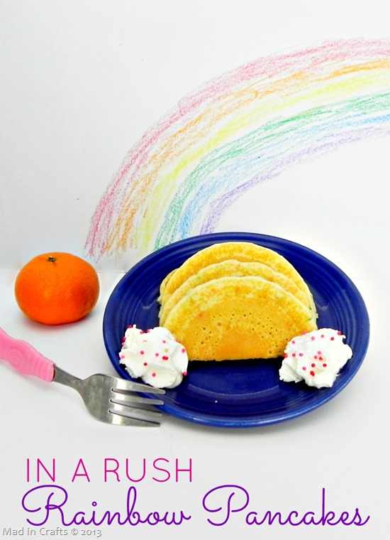 In a Rush Rainbow Pancakes