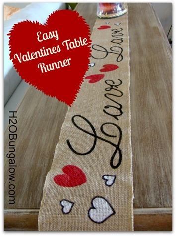 Easy No Sew Valentine Banner
