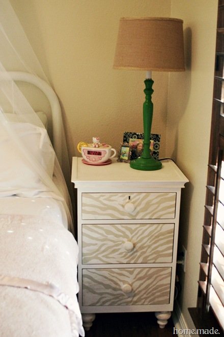 zebra nightstand