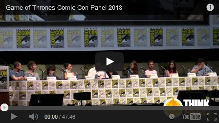 games of thrones full comic con panel, sdcc 2013
