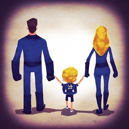 Super heróis em família 04