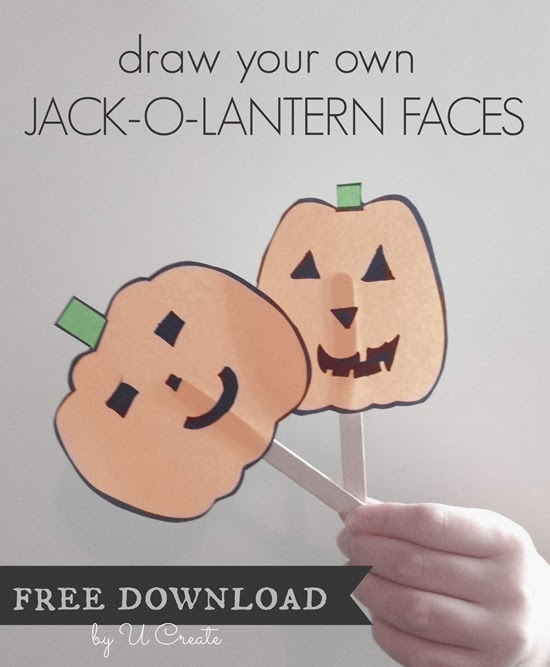One Sheet of Blank Pumpkin Faces = hours of FUN!