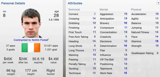 Seamus Coleman in Football Manager 2013