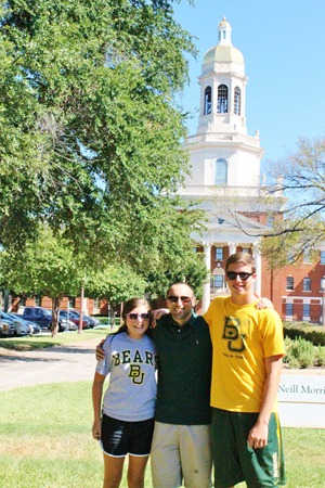 Nash's 1st day of School & Baylor Game 036