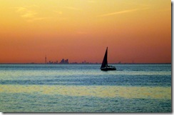 Dusk at Lake Ontario-Toronto Skyline