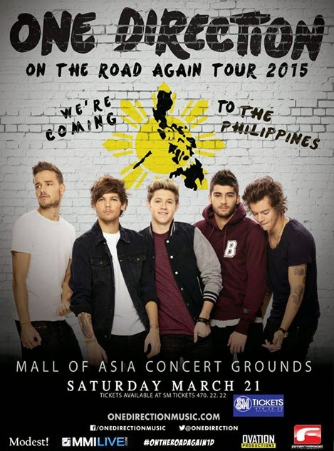 One Direction On the road again tour Manila Philippines 2015