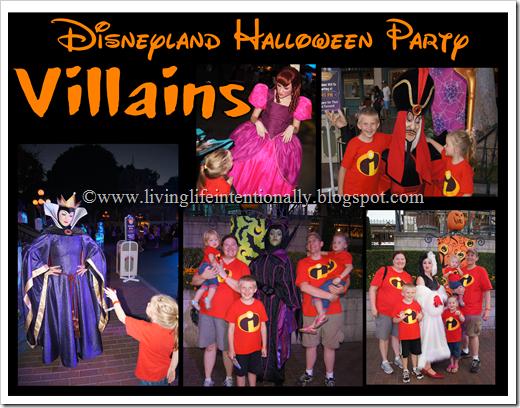Disney Halloween Party Villains