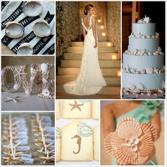Seashell Inspiration Board | Cordier Event Planning