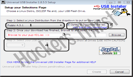 Install Linux in USB