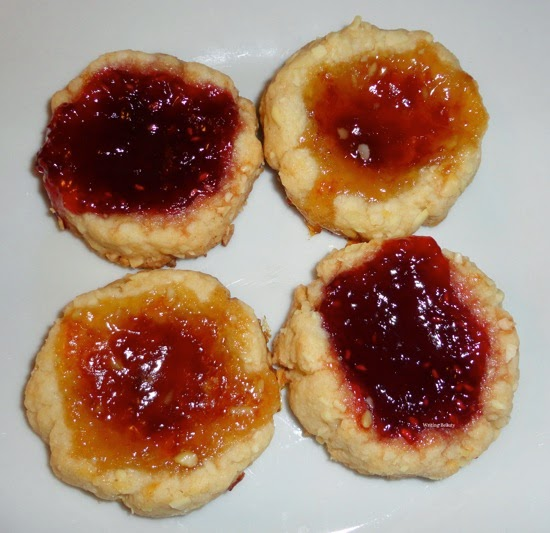 Raspberry Almond Thumbprint Cookies 2