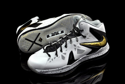 lebron10 ps elite white gold 64 web black The Showcase: Nike LeBron X P.S. Elite+ White & Gold