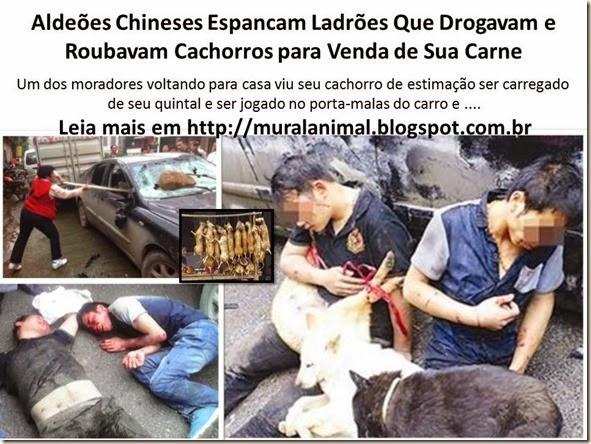 Aldeões Chineses Espancam Ladrões Que Drogavam e Roubavam