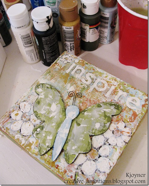 Inspire Butterfly Mixed Media Painting