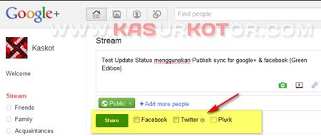 Menghubungkan Google  Plus ke Faceboo dan Twitter 2