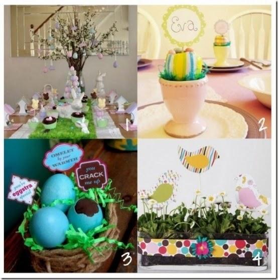 cafecreativo-tutorial Pasqua tavola - decorazione - segaposti - centrotavola
