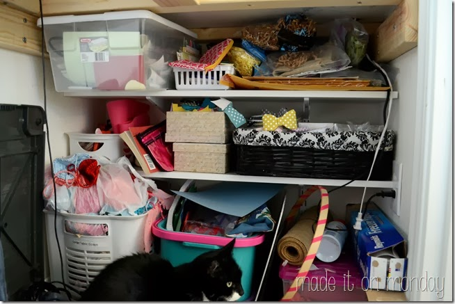 A Practical & Affordable Craft Closet @ Made it on Monday