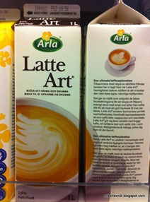 latte art in a carton