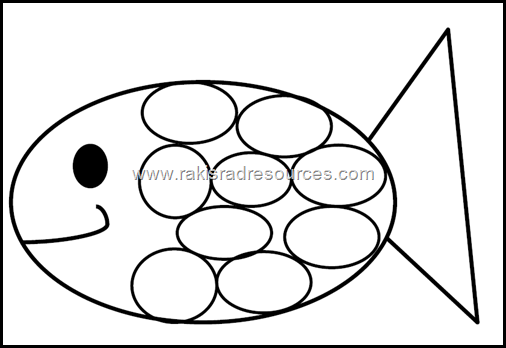 Classroom Freebies: Rainbow Fish Template from Raki's Rad