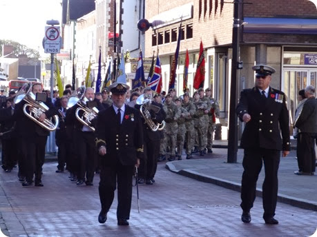 Remembrance Sunday parade through the town (1)