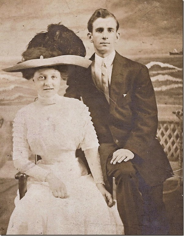 GOULD_Harry & Marie on their wedding day_1912