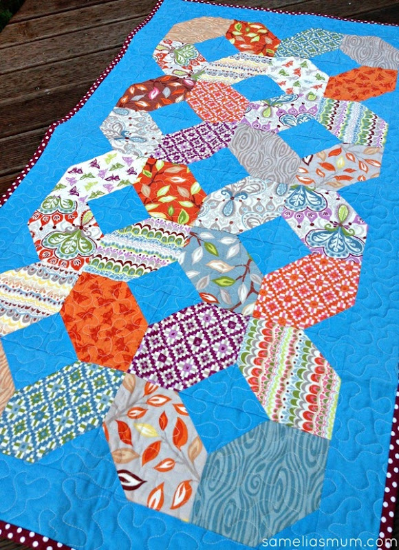 Entwined Quilted Table Runner Tutorial