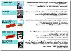 club de lectura triptico 2011 - 2