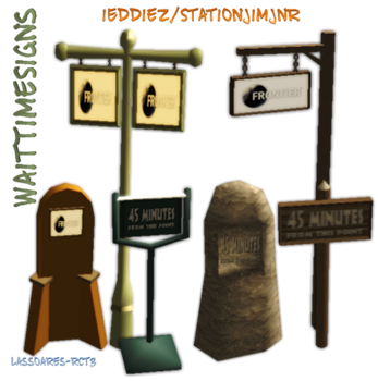 WaitTimeSigns (iEddiez&StationJimJnr) lassoares-rct3