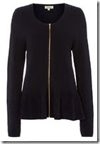 Long Ribbed Cardigan Jacket with Zip On Sale