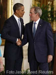 Bush e Obama foto Jason Reed Reuters