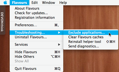 Flavors troubleshooting exclude apps