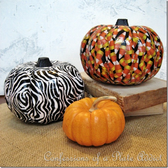 Duct Tape Pumpkins