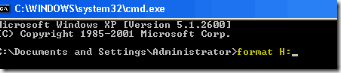 Format drive using cmd 2