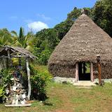 Traditional Melanesian Hut and Prayer Shrine - Lifou, New Caledonia