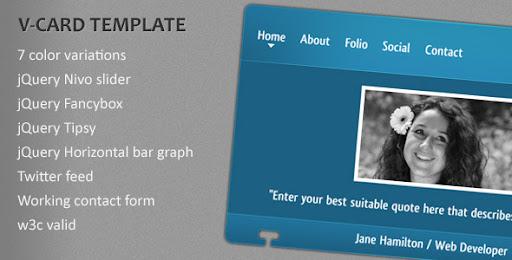 Premium virtual business card html templates v card template v card template cheaphphosting Gallery