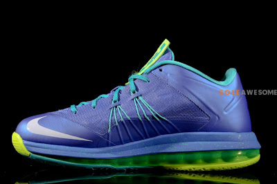 nike lebron 10 low gr blue green 1 04 First Look at Nike Air Max LeBron X Low Summit Lake Hornets