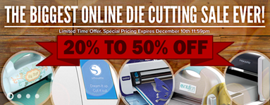 Die Cutting sale on scrapbook.com