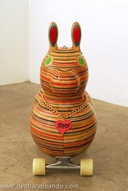 arte esculturas com skate reciclado desbaratinando  (37)