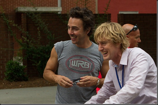 director shawnlevy and owen wilson THE INTERNSHIP