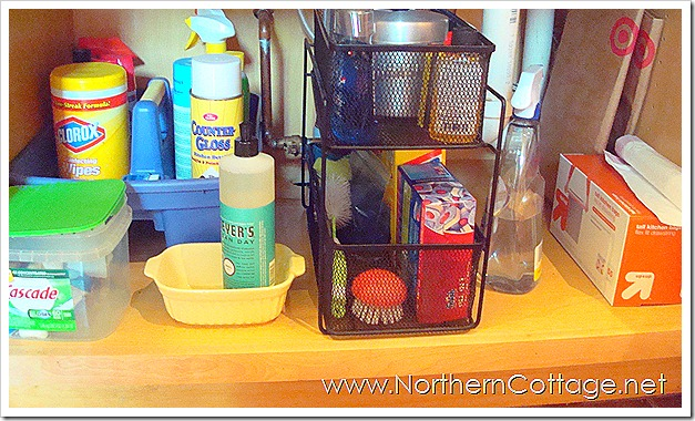 northern cottage under the sink