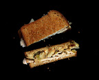 the amazing result: a grilled turkey and bread stuffing scanwich! this image didn't make it into the issue, but i love it.