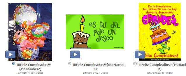 feliz cumpleaños para Facebook