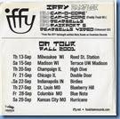Iffy Fall 2001 sampler CD