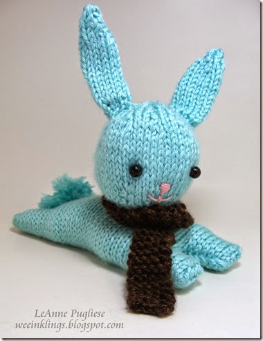 LeAnne Pugliese weeInklings Knitted Bunny with Scarf