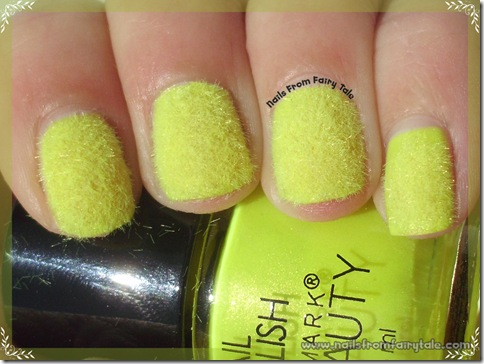 neon yellow flocking powder