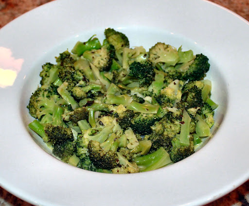 Broccoli with Lime Shallot Dressing; Denise Romeo