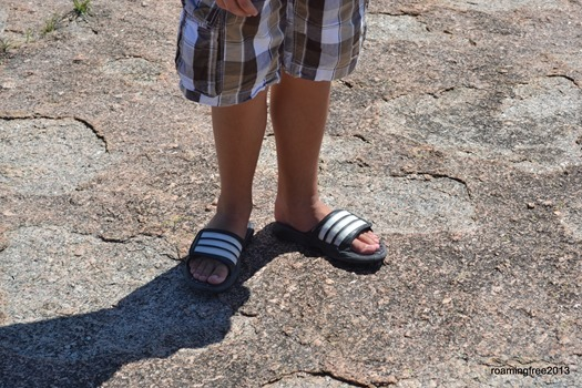 He made it in flip flops!