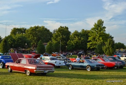 Lots of cars gathered on the lawn!