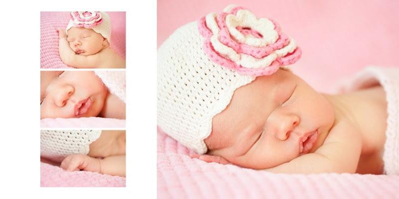 Минибук со съемкой новорожденной Леи
